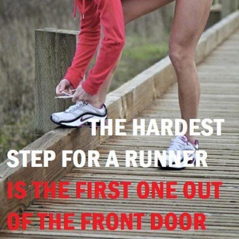 The Hardest Step for a Runner